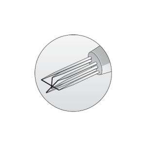 Triple-sensor fiber-film probes