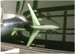 image of Airbus model submerged