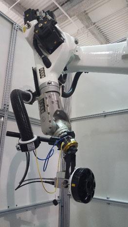 flawexplorer and robotic arm
