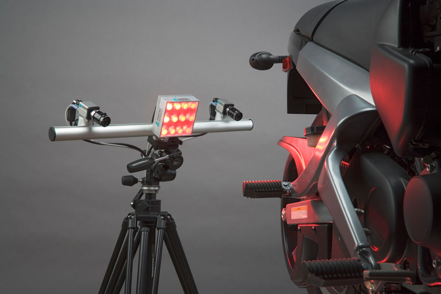 Image of Digital Image Correlation test equipment