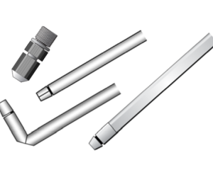 Mounting tubes and guide tubes