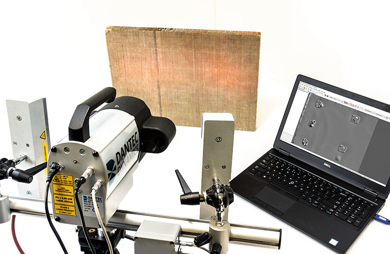 FlawScout Laser Shearography sensor with thermal excitation