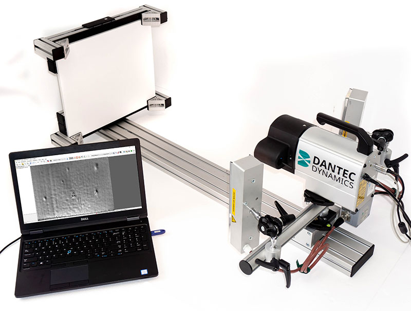 flawscout sensor with thermal excitation and Istra4D software