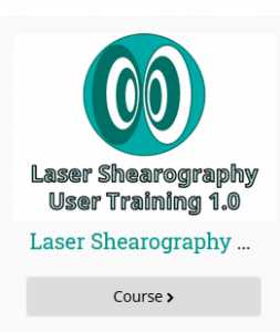 Figure 1 – Laser Shearography User Training 1.0 course