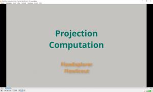 Figure 5: Part 3 – Projection Tutorial Video