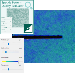 Figure 4 – The Istra4D,  real-time, speckle pattern quality evaluator